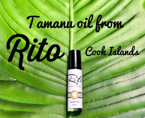 Tamanu oil, Rito Cook Islands, Rito Tamanu oil Rito coconut oil, Made in Rarotonga,