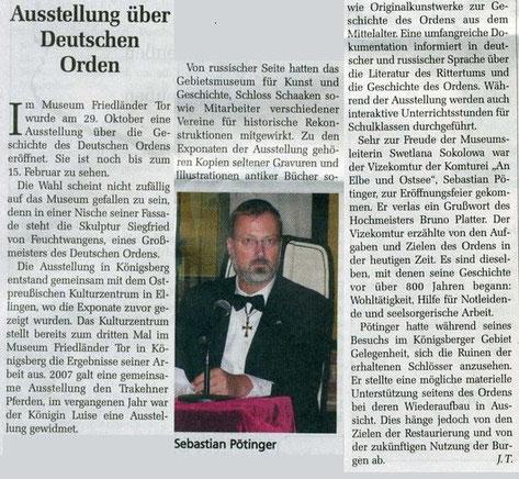 Das Ostpreussenblatt Nowember 2009