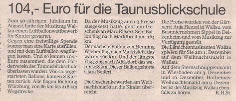 Bericht im Erbenheimer Anzeiger 30.11.2012