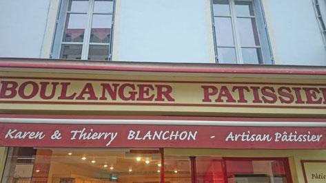 Eclairage de magasin, éclairage de vitrine Boulangerie Blanchon à Bourg-en-Bresse
