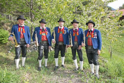Gruber Franz, Senn Alfred, Pinzger Dominik, Nothdurfter Simon, Schütz Gebhard              (von links)