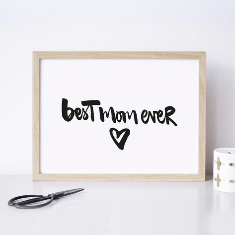 "Kunstdruck ""best mum ever"" / ""best dad ever"""