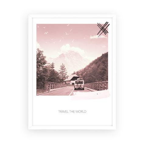 "Kunstdruck ""travel the world"""