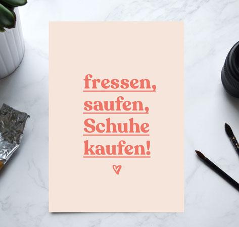 """Kunstdruck """"heute wird getanzt"""""""