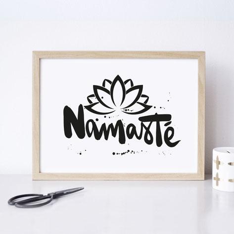 """Kunstdruck """"Namasté"""""""