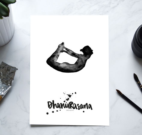 YOGA Print - Bogen / Dhanurasana