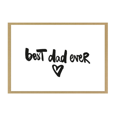 "Grußkarte ""best dad ever"""