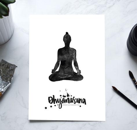 YOGA Print - Meditationssitz
