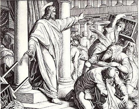 Was hat Jesus getan, als er gesehen hat, dass sein Haus missbraucht wird? Siehe Matthäus 21,12! Das wäre sicher auch heute eine sinnvolle Form des Protestes.