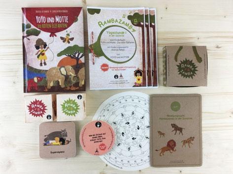 Das ganze Paket: Kinderbuch, 3 ausgearbeitete Yogastunden, kreative Yogaübungskarten, ein Mandala zum ausmalen und ganas ganze Paket: Kinderbuch, 3 ausgearbeitete Yogastunden, kreative Yogaübungskarten, ein Mandala zum ausmalen und ganz viel Spiel & Spaß