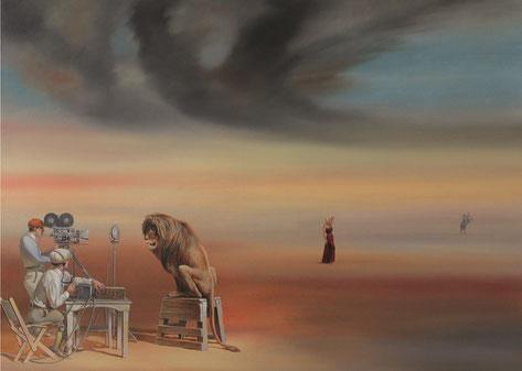 "Chef, Genia, ""Metro Goldwyn Mayer"", Öl auf Leinwand, 100 x 140 cm, 2014"