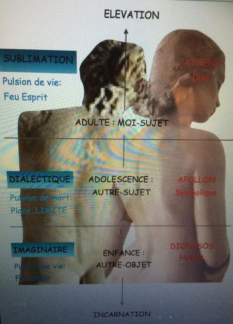Schéma récapitulatif colonne vertébrale et désir