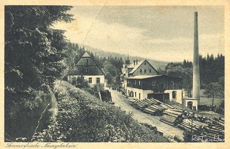Bild: Wünschendorf Hammermühle Neunzehnhain Popstkarte 1930