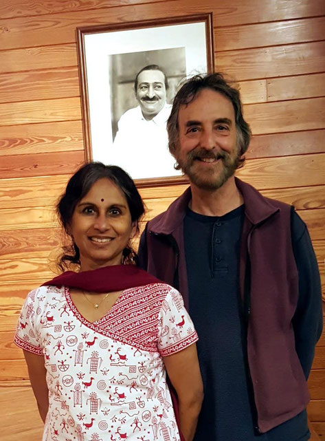 April 2016 ; Michael & Lakshmi at Meher Center, Myrtle Beach, SC. - photo taken by Anthony Zois