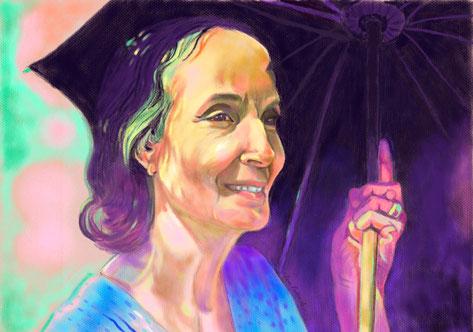 """16.  """" Mehera With Umbrella """""""