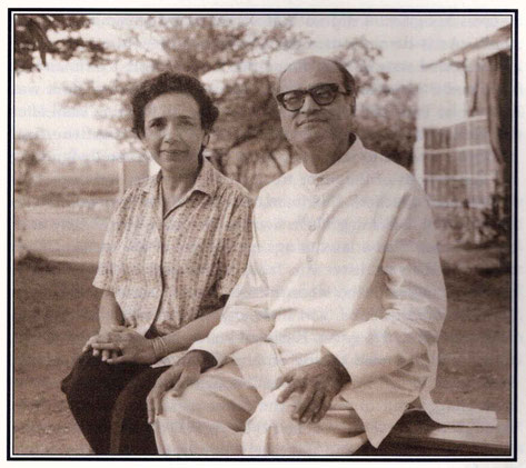 "Nariman and Arnavaz in later years - photo courtesy of Arnavaz's book ""Gift of God"""