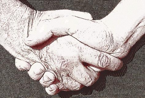Gehört zu jedem Gipfeltreffen: der Handschlag.