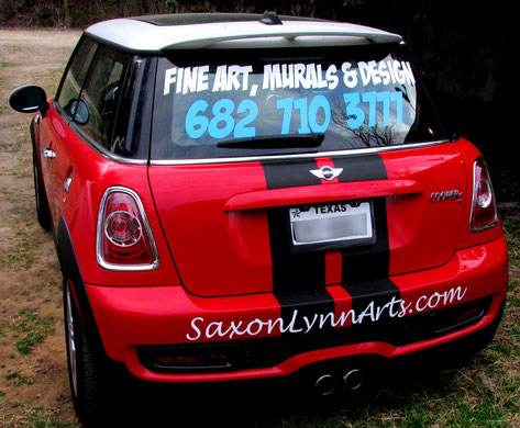 SaxonLynn Arts Mini Cooper Car graphics Advertising Fine Art, Murals & Design