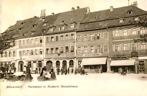 Marktostseite um 1911 mit Markt 2 (von rechts nach links) 4, 6, 8 und 10