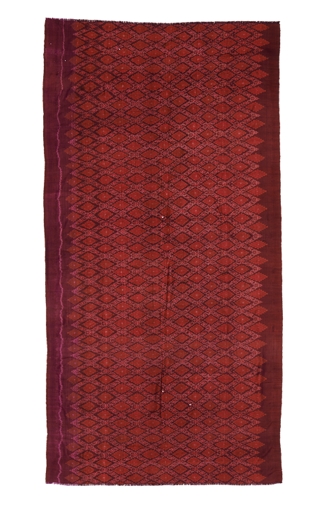 Semi-antique Ikat, 100% very fine hand-woven silk from Cambodia.