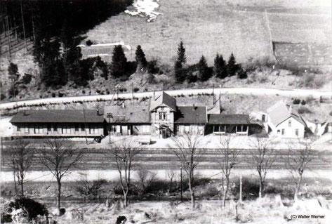 Endpunkt der Odertalbahn war der Staatsbahnhof St. Andreasberg West am Fuße des Glockenberges.
