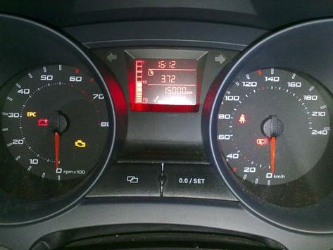 Amaturen des Seat Ibiza 6J