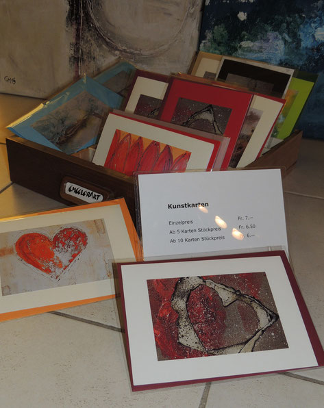 cmcolorart, Kunstkarten, diverse Motive, Acrylcollagen