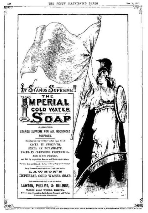 Britannia soap ad from The Penny Illustrated Paper, circa 1850s?