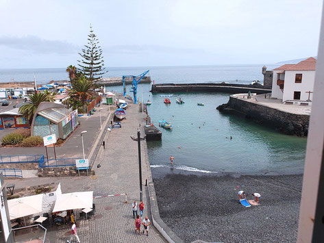 Blick auf den Hafen von Puerto de la Cruz.