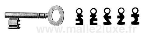 clé a variure ancienne pour Malle Louis Vuitton exemple de modele