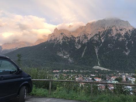 Karvendel-Gebirge im Abendrot