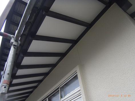 熊本市〇様家の外壁塗装・軒天塗装完成。関西ペイント使用。