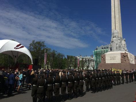 Feier des Unabhängigkeitstages in Riga