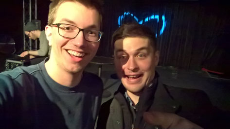 Martin mit seinem Idol Adam Neely