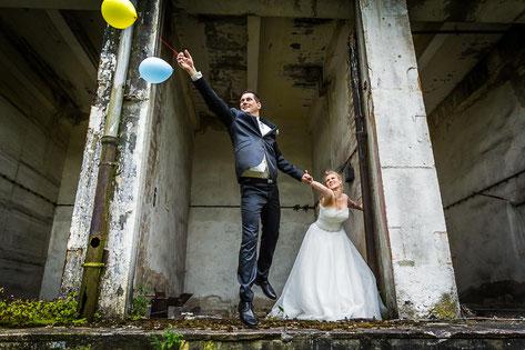 Afterweddingshooting in Wittenberge mit Hochzeitsfotografen