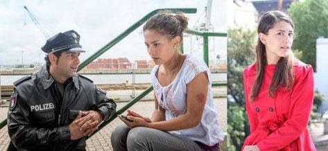 Szenenbild 'Hafenkante':  © Studio Hamburg, Setfoto 'Der kleine Unterschied'  © Tobias Kallkowsky
