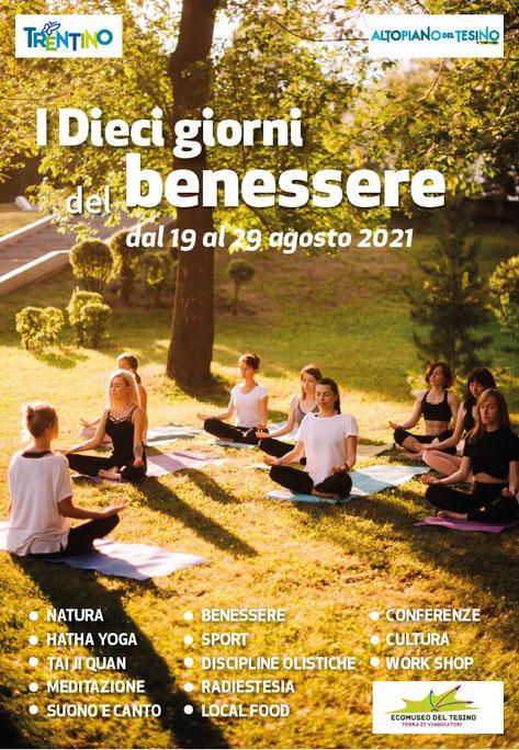 I Dieci Giorni del Benessere 2021- Provincia di Trento