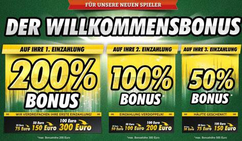 Willkommensbonus im OnlineCasino Deutschland