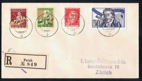 J 41 -44  Mi.Nr.: 222 - 225