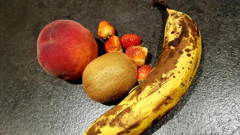Effectivement, il n'y a pas de mangue ;  vous pouvez l'imaginer peut être !?