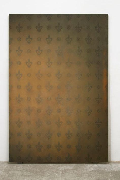 Domecke 1996  Kunstharz, Steinmehl, Ölfarbe auf Leinwand  210 x 140 cm