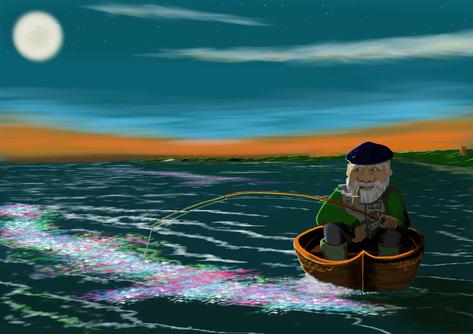 Nachtangeln und Meeresleuchten vor Sylt