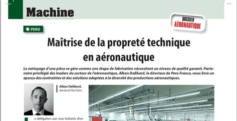 Propreté technique en Aéronautique développement nouveaux produits