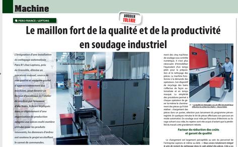 Leptons : soudage industriel adaptée aux pièces multi-matière
