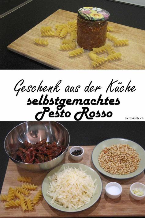 DIY Geschenkidee aus der Küche: selbstgemachtes Pesto Rosso - so verschenkst du Vitamine auch in der dunklen Winterzeit