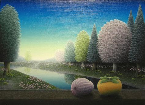 櫻井和也「凛呼蒼く」油彩・キャンバス P8