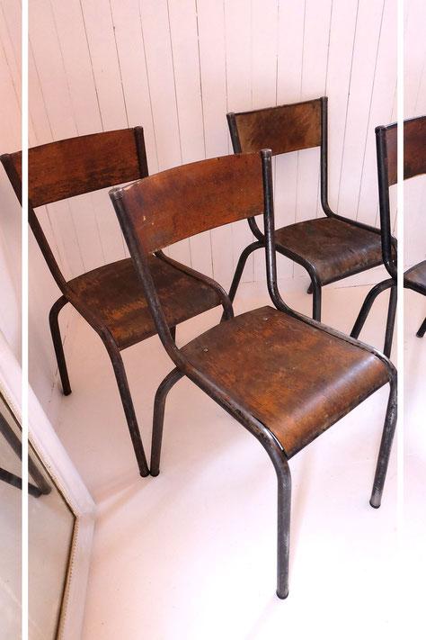 chaises Mullca design vintage indus