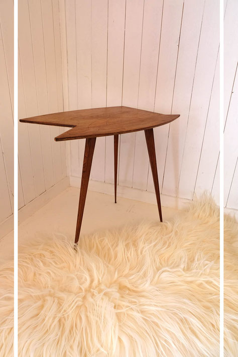 table tripode vintage scandinave