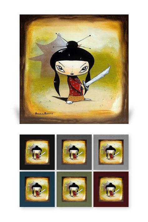 andras bartos  pop art leinwanddruck canvas print berlin funny sad melancholisch happy bunt Minis Yooki