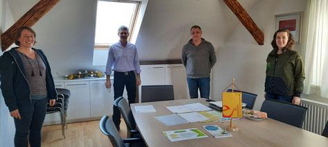 Der bereits im Februar 2021 von der KEM Graz-Umgebung Nord organisierte, kostenlose Ich-tu's-Energieberatertag in Semriach war ein absoluter Erfolg. (v.l.n.r.: Michaela Ziegler, BGM Gottfried Rieger, Martin Zimmer, Maria Enzinger)